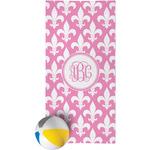 Fleur De Lis Beach Towel (Personalized)
