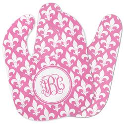 Fleur De Lis Baby Bib w/ Monogram