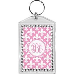 Fleur De Lis Bling Keychain (Personalized)