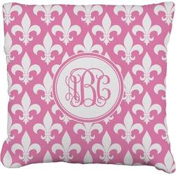 """Fleur De Lis Faux-Linen Throw Pillow 16"""" (Personalized)"""
