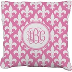 Fleur De Lis Faux-Linen Throw Pillow (Personalized)