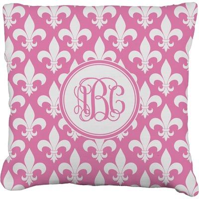Fleur De Lis Faux-Linen Throw Pillow (Personalized)