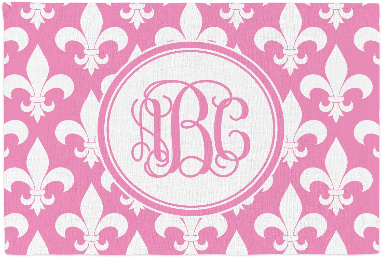 Fleur De Lis Placemat Fabric Personalized