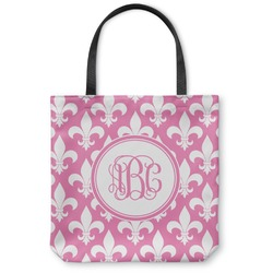 "Fleur De Lis Canvas Tote Bag - Small - 13""x13"" (Personalized)"