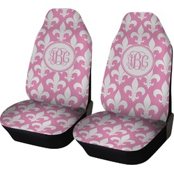 Fleur De Lis Car Seat Covers (Set of Two) (Personalized)