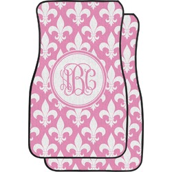 Fleur De Lis Car Floor Mats (Front Seat) (Personalized)