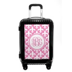 Fleur De Lis Carry On Hard Shell Suitcase (Personalized)