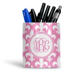 Fleur De Lis Ceramic Pen Holder