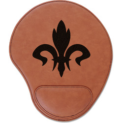 Fleur De Lis Leatherette Mouse Pad with Wrist Support (Personalized)