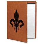 Fleur De Lis Leatherette Portfolio with Notepad (Personalized)