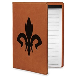 Fleur De Lis Leatherette Portfolio with Notepad - Small - Single Sided (Personalized)