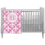 Fleur De Lis Crib Comforter / Quilt (Personalized)