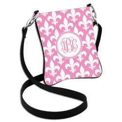 Fleur De Lis Cross Body Bag - 2 Sizes (Personalized)