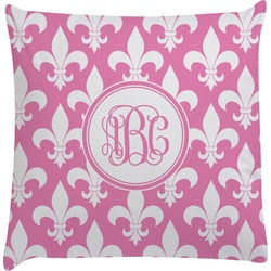 Fleur De Lis Decorative Pillow Case (Personalized)