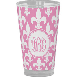 Fleur De Lis Drinking / Pint Glass (Personalized)