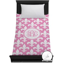 Fleur De Lis Duvet Cover - Twin (Personalized)