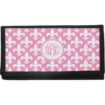 Fleur De Lis Canvas Checkbook Cover (Personalized)
