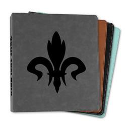 """Fleur De Lis Leather Binder - 1"""" (Personalized)"""
