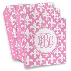 Fleur De Lis 3 Ring Binder - Full Wrap (Personalized)