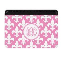 Fleur De Lis Genuine Leather Front Pocket Wallet (Personalized)