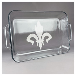 Fleur De Lis Glass Baking and Cake Dish (Personalized)