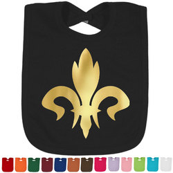 Fleur De Lis Foil Baby Bibs (Select Foil Color) (Personalized)