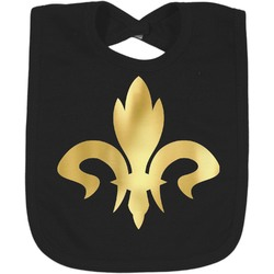 Fleur De Lis Foil Toddler Bibs (Select Foil Color) (Personalized)