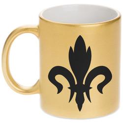 Fleur De Lis Gold Mug (Personalized)