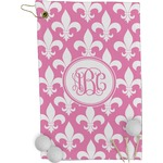 Fleur De Lis Golf Towel - Full Print (Personalized)