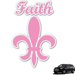 Fleur De Lis Graphic Car Decal (Personalized)