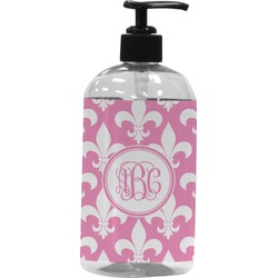 Fleur De Lis Plastic Soap / Lotion Dispenser (Personalized)