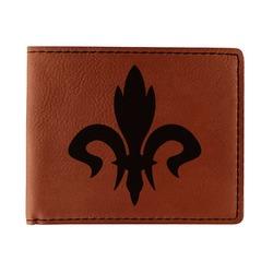 Fleur De Lis Leatherette Bifold Wallet (Personalized)