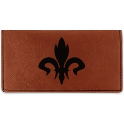 Fleur De Lis Leatherette Checkbook Holder (Personalized)
