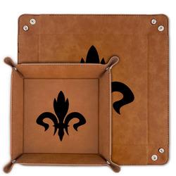 Fleur De Lis Faux Leather Valet Tray (Personalized)
