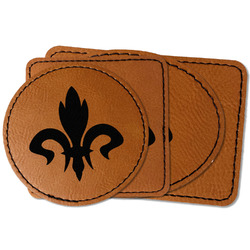 Fleur De Lis Faux Leather Iron On Patch (Personalized)