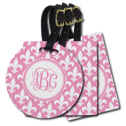 Fleur De Lis Plastic Luggage Tags (Personalized)