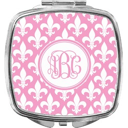 Fleur De Lis Compact Makeup Mirror (Personalized)