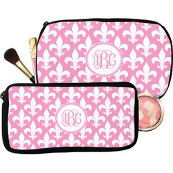 Fleur De Lis Makeup / Cosmetic Bag (Personalized)