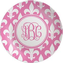 Fleur De Lis Melamine Plate (Personalized)