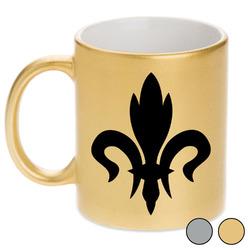 Fleur De Lis Metallic Mug (Personalized)