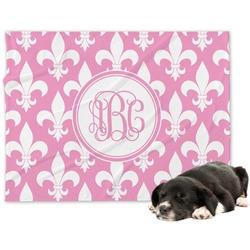 Fleur De Lis Minky Dog Blanket (Personalized)