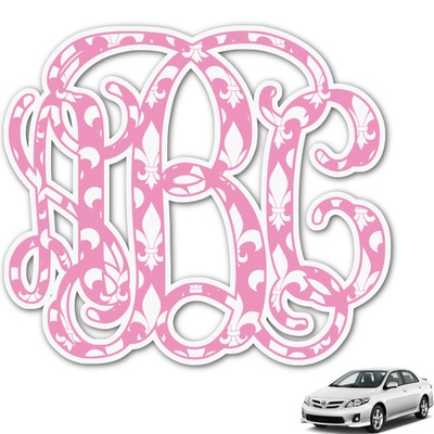 Fleur De Lis Monogram Car Decal (Personalized)