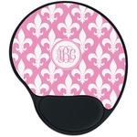 Fleur De Lis Mouse Pad with Wrist Support