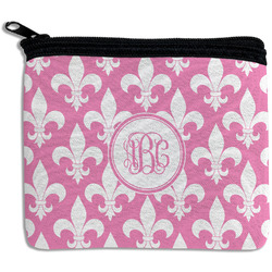 Fleur De Lis Rectangular Coin Purse (Personalized)