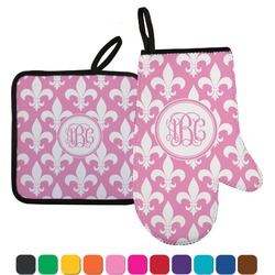 Fleur De Lis Oven Mitt & Pot Holder (Personalized)