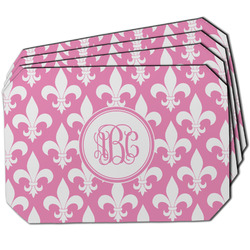 Fleur De Lis Dining Table Mat - Octagon w/ Monogram