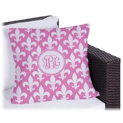 Fleur De Lis Outdoor Pillow (Personalized)