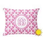 Fleur De Lis Outdoor Throw Pillow (Rectangular) (Personalized)