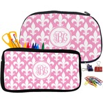 Fleur De Lis Pencil / School Supplies Bag (Personalized)