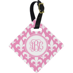 Fleur De Lis Diamond Luggage Tag (Personalized)